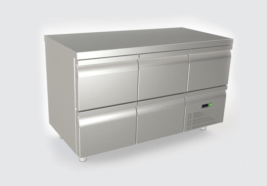Ψυγείο πάγκος με 5 συρτάρια και συρταρωτό μοτέρ