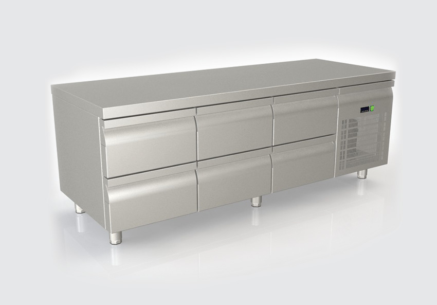 Ψυγείο πάγκος με 6 συρτάρια χαμηλό